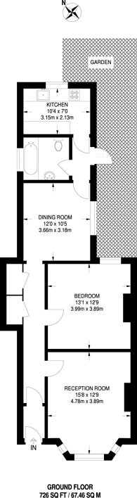 Large floorplan for Station Road, North Finchley, N3