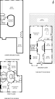Large floorplan for Camlet Way, Hadley Wood, EN4
