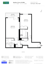 Large floorplan for Eaton House, Canary Wharf, E14