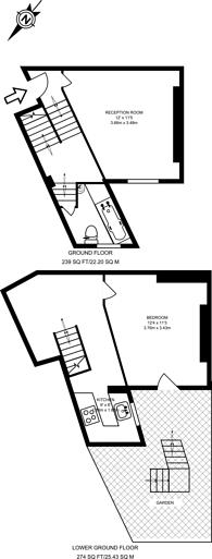 Large floorplan for King Henrys Walk, Islington, N1