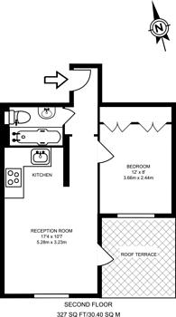 Large floorplan for Kings Road, Chelsea, SW10