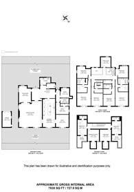 Large floorplan for Warren Road, Coombe, KT2