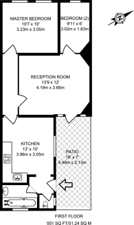 Large floorplan for Ryefield Court, Northwood Hills, HA6