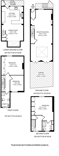 Large floorplan for Maunsel Street, Westminster, SW1P