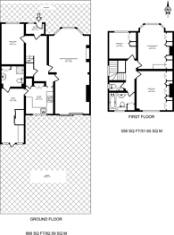 Large floorplan for Village Way, Pinner, HA5