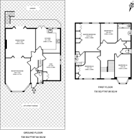 Large floorplan for Wise Lane, Mill Hill, NW7