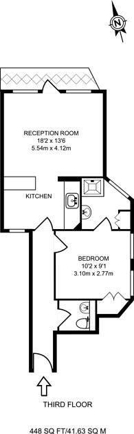 Large floorplan for Lissenden Gardens, Gospel Oak, NW5