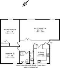 Large floorplan for Catherine Place, St James's Park, SW1E