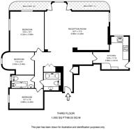 Large floorplan for Marlborough Court, South Kensington, W8
