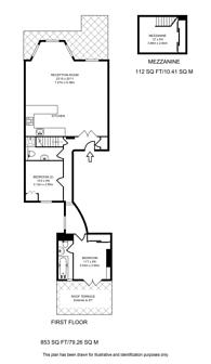 Large floorplan for Lexham Gardens, South Kensington, W8