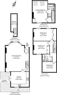Large floorplan for Yeldham Road, Hammersmith, W6