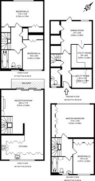 Large floorplan for Hartington Road, Grove Park, W4