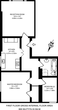 Large floorplan for Howley Place, Little Venice, W2