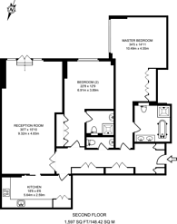 Large floorplan for Trevor Square, Knightsbridge, SW7