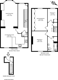 Large floorplan for Crookham Road, Parsons Green, SW6