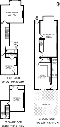 Large floorplan for Manor Road, Wimbledon, SW20