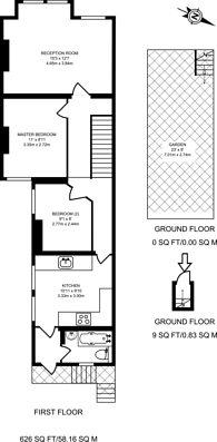 Large floorplan for Miller Road, Colliers Wood, SW19