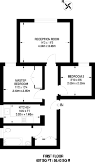 Large floorplan for Darlaston Road, Wimbledon, SW19