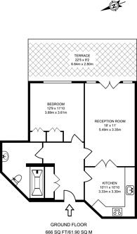Large floorplan for Worple Road, Wimbledon, SW19