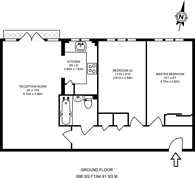 Large floorplan for Cottonham Close, North Finchley, N12