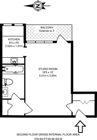 Large floorplan for Ashbourne Close, Woodside Park, N12