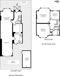 Large floorplan for Wolstonbury, North Finchley, N12