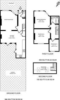 Large floorplan for Netherfield Road, North Finchley, N12
