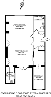 Large floorplan for Belitha Villas, Barnsbury, N1