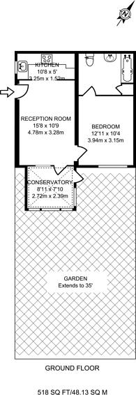 Large floorplan for Alexandra Drive, Berrylands, KT5