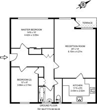 Large floorplan for South View Court, Woking, GU22
