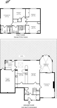 Large floorplan for Grange Park, Horsell, GU21