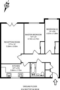 Large floorplan for Woodlands Close, Guildford, GU1