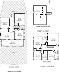 Large floorplan for Spring Court Road, Enfield, EN2