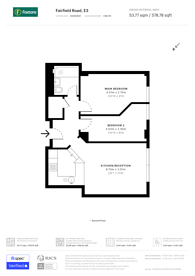 Large floorplan for Arlington Building, Bow, E3