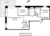 Large floorplan for Discovery Dock Apartments East, Canary Wharf, E14