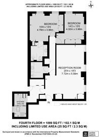 Large floorplan for Westminster, Mayfair, W1K