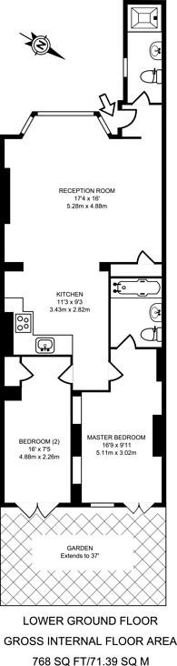 Large floorplan for Sevington Street, Maida Vale, W9