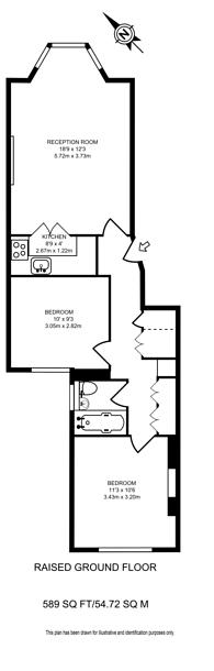 Large floorplan for Westgate Terrace, Chelsea, SW10