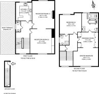 Large floorplan for Warwick Avenue, Maida Vale, W9