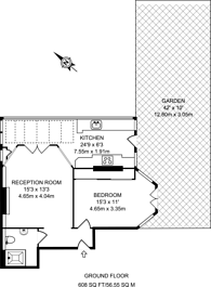 Large floorplan for Park Road, St Margarets, East Twickenham, TW1