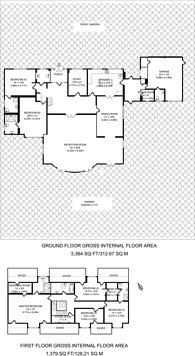 Large floorplan for Home Farm Road, Rickmansworth, WD3