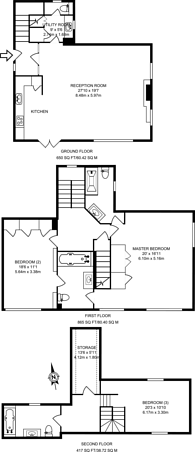 Large floorplan for Chinthurst Lane, Bramley, GU5