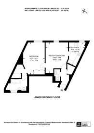 Large floorplan for Crawford Street, Marylebone, W1H