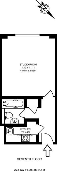 Large floorplan for Woburn Place, Bloomsbury, WC1H