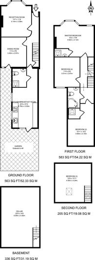 Large floorplan for Skelton Road, Forest Gate, E7