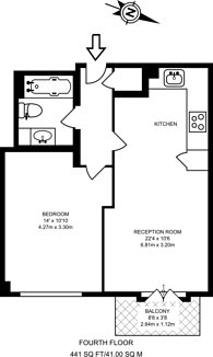Large floorplan for Limeharbour, Isle Of Dogs, E14