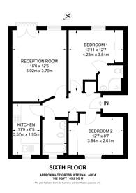 Large floorplan for Coleman Fields, Islington, N1