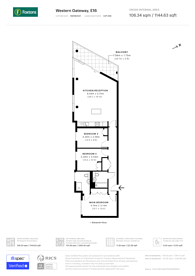 Large floorplan for Alaska Apartments, Royal Docks, E16