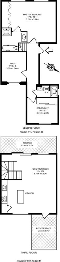 Large floorplan for Gloucester Avenue, Primrose Hill, NW1