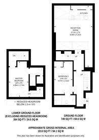 Large floorplan for Red Lion Street, Holborn, WC1R